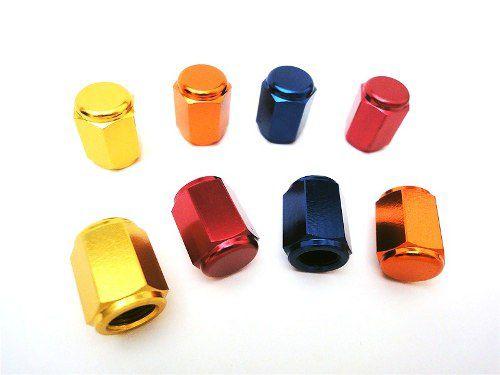 Tampa de válvula de ar Aluminio (Par) Dourado