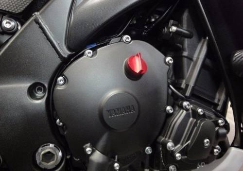 Tampa De Óleo Do Motor Alumínio Moto Yamaha Vermelha
