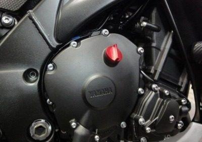 Tampa De Óleo Do Motor Alumínio Moto Suzuki Azul