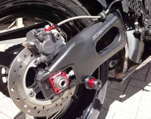 Slider Spool De Balança Grande Honda Suzuki Bmw Vermelho