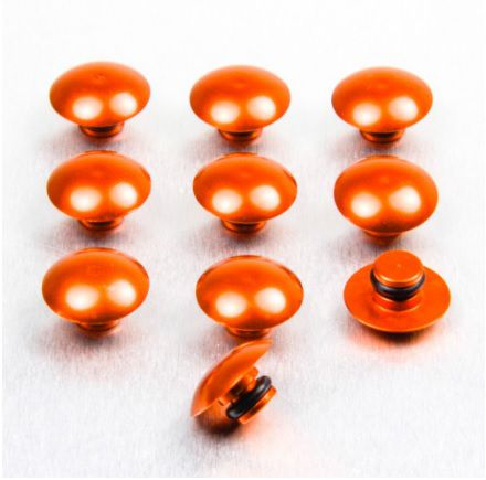 10 Tampas para parafusos M6 em alumínio laranja