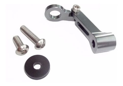 Suporte para Reservatório de Fluído de Freio e Gps Aluminio Cinza