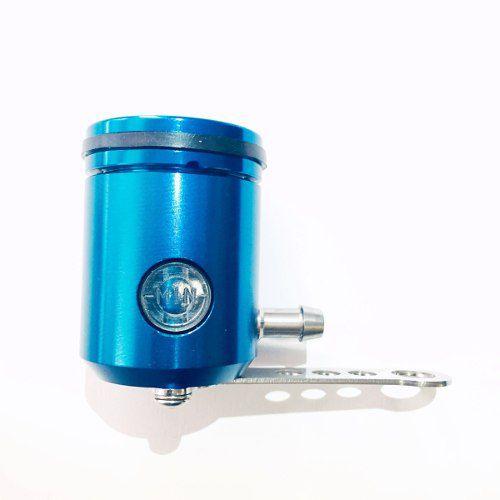 Reservatório de Fluído de Freio com Visor e Saída pela Direita Azul