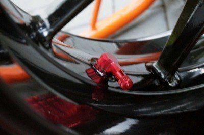 Tampa de válvula de ar Aluminio (Par) Vermelho