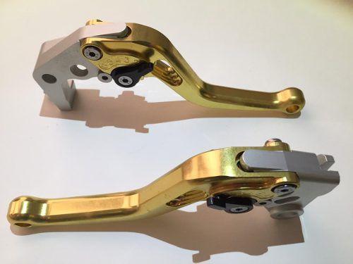 Manete Esportivo Moto Honda Cb1000r/cbr1000rr Dourado/Preto