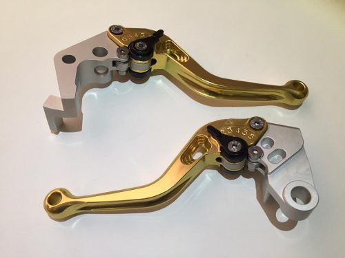 Manete Esportivo Moto Honda Cb125 Cbr250 Cbr300 Cbr500 Dourado/Preto