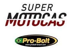 Manete Esportivo Moto Honda Cb125 Cbr250 Cbr300 Cbr500 Preto/Vermelho