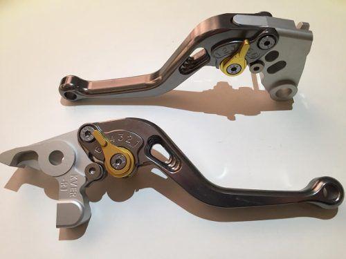 Manete Esportivo Moto Suzuki Gsxr1000 Gsxr750 Titanio/Dourado