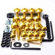 Kit Universal de Parafusos da Carenagem Alumínio Pro-Bolt 50pçs Dourado