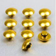 10 Tampas para parafusos M6 em alumínio dourado