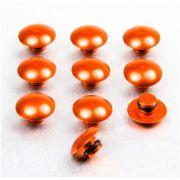 5 Tampas para parafusos M8 em alumínio laranja