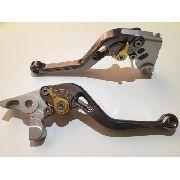 Manete Esportivo Moto Yamaha R1/R6 Titânio/Dourado