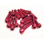 Kit Universal de Parafusos da Tampa do Motor Alumínio Pro-Bolt 30 Pçs Vermelho