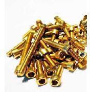 Kit Universal de Parafusos da Tampa do Motor Alumínio Pro-Bolt 50 Pçs Dourado
