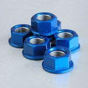 Conjunto de Porcas da Coroa 12mm 6 Unid Azul