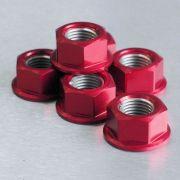 Conjunto de Porcas da Coroa 12mm 6 Unid Vermelho