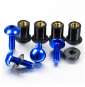 Kit Parafusos de bolha M5 com Buchas (4 Unid) Azul