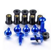 Kit Parafusos de bolha M5 com Buchas (8 Unid) Azul