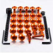 Kit Universal de Parafusos da Carenagem Alumínio Pro-Bolt 30pçs Laranja
