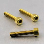 Parafuso Allen de Aluminio Socket Cap M4 x 20mm Dourado