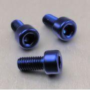 Parafuso Allen de Aluminio Socket Cap M5 x 10mm Azul
