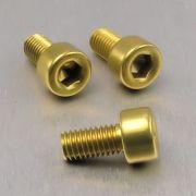 Parafuso Allen de Aluminio Socket Cap M5 x 10mm Dourado