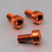 Parafuso Allen de Aluminio Socket Cap M5 x 10mm Laranja