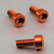 Parafuso Allen de Aluminio Socket Cap M5 x 12mm Laranja