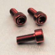 Parafuso Allen de Aluminio Socket Cap M5 x 12mm Unidade Vermelho