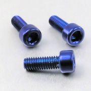 Parafuso Allen de Aluminio Socket Cap M6 x 16mm Azul