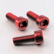Parafuso Allen de Aluminio Socket Cap M6 x 16mm Vermelho