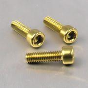 Parafuso Allen de Aluminio Socket Cap M6 x 20mm Dourado
