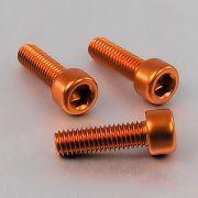 Parafuso Allen de Aluminio Socket Cap M6 x 20mm Laranja