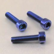 Parafuso Allen de Aluminio Socket Cap M6 x 25mm Azul