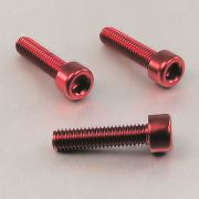 Parafuso Allen de Aluminio Socket Cap M6 x 25mm Vermelho
