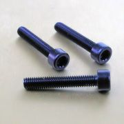 Parafuso Allen de Aluminio Socket Cap M6 x 30mm Azul