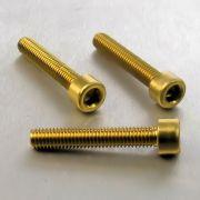 Parafuso Allen de Aluminio Socket Cap M6 x 35mm Dourado