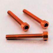 Parafuso Allen de Aluminio Socket Cap M6 x 45mm Laranja
