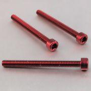 Parafuso Allen de Aluminio Socket Cap M6 x 65mm Vermelho