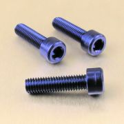 Parafuso Allen de Aluminio Socket Cap M8 x 30mm Azul