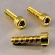 Parafuso Allen de Aluminio Socket Cap M8 x 30mm Dourado