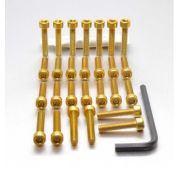 Parafusos da tampa do motor Kawasaki Ninja ZX10R 11+ Dourado