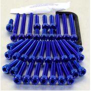 Parafusos da tampa do motor Suzuki GSX1300 Haybusa 08+ Azul