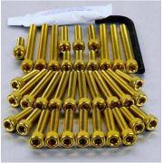 Parafusos da tampa do motor Suzuki GSX1300 Haybusa 08+ Dourado