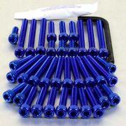 Parafusos da tampa do motor Suzuki GSXR600-750 K6-K10 (07/13) Azul