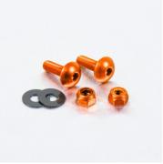 Parafusos de placa ProBolt Alumínio 2 Unidades Laranja