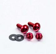 Parafusos de placa ProBolt Alumínio 2 Unidades Vermelho