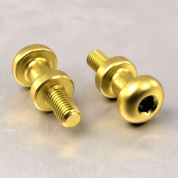 2 Parafusos para fixação de capacete e outros Itens M8 15mm dourado