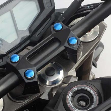 5 Tampas para parafusos M10 em alumínio azul