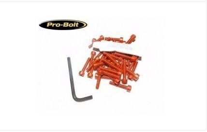 Kit Universal de Parafusos da Tampa do Motor Alumínio Pro-Bolt 30 Pçs Laranja